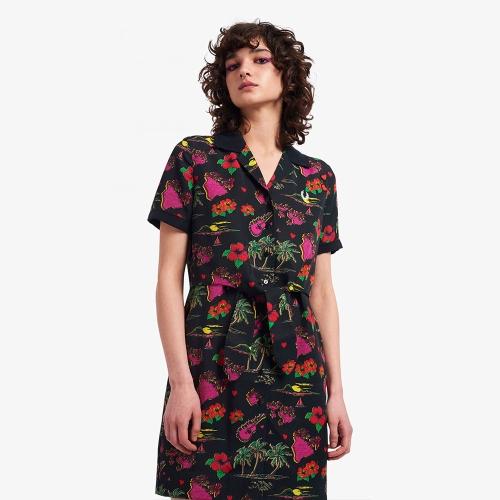 [Amy Winehouse] 에이미 하와이안 프린트 셔츠 드레스 (102)