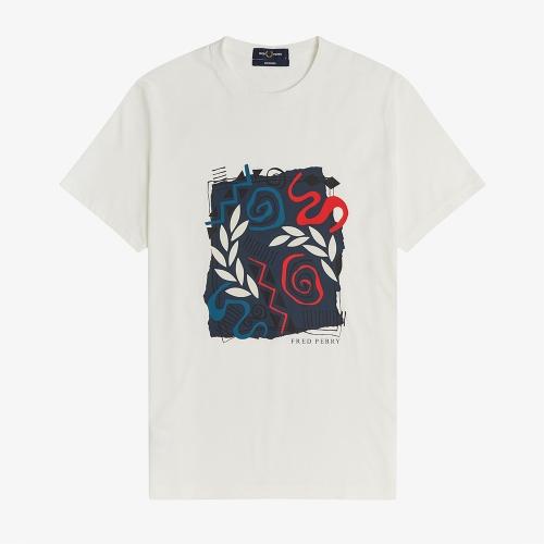 [Reissues] 모자이크 프린트 티셔츠 (129)