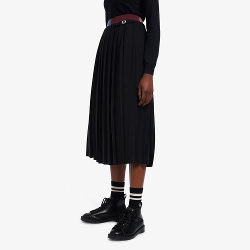 [Womens] 컬러 블럭 플리츠 스커트 (102)