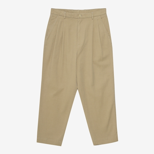 Two Tuck Tapered Pants (BEG)