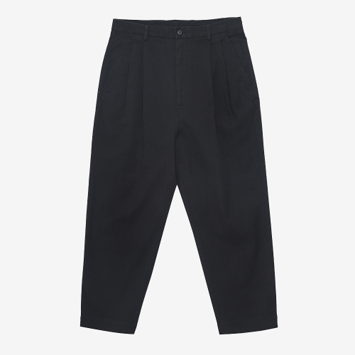 Two Tuck Tapered Pants (BLK)