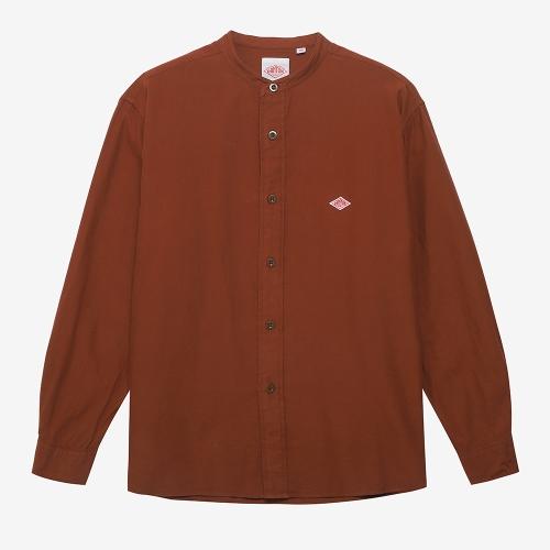 Band Collar Shirt L/S (BRW)