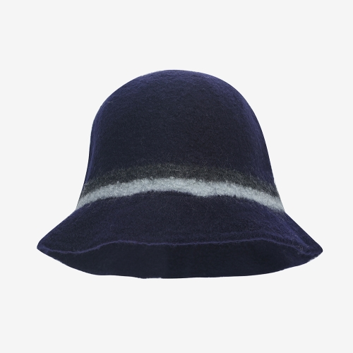 Boiled Wool Cloche (NVY)