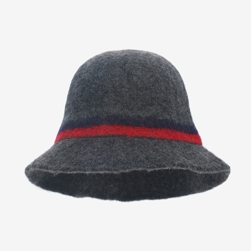 Boiled Wool Cloche (GRY)