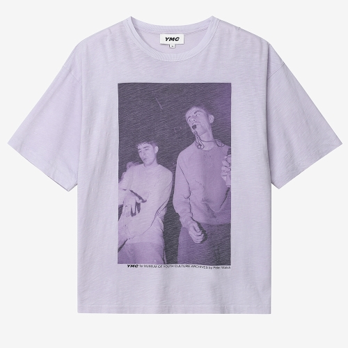 트리플 티셔츠 레이브 프린트 (PUR)