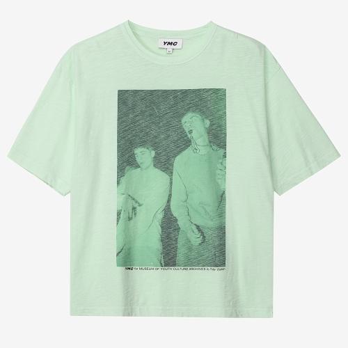 트리플 티셔츠 레이브 프린트 (GRN)