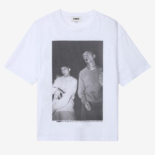 트리플 티셔츠 레이브 프린트 (WHT)