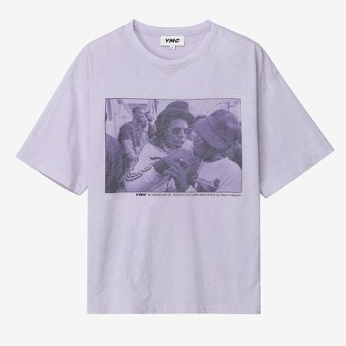 트리플 티셔츠 레게 프린트 (PUR)