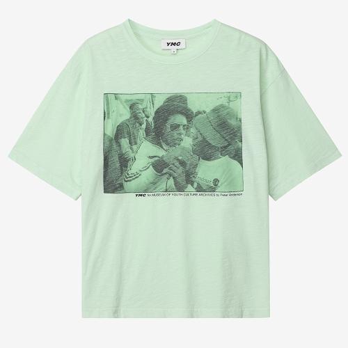 트리플 티셔츠 레게 프린트 (GRN)
