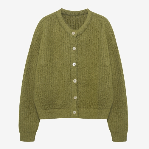 Brushed 2-way Knit Cardigan (GRN)