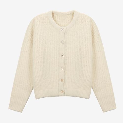 Brushed 2-way Knit Cardigan (ECR)