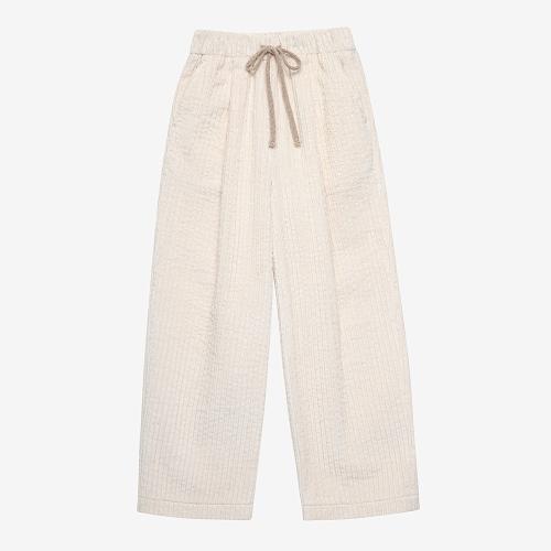 Bold Corduroy Semi Wide Pants (ECR)