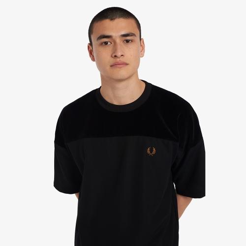 [Sport] 벨루어 패널 트리코트 티셔츠 (102)