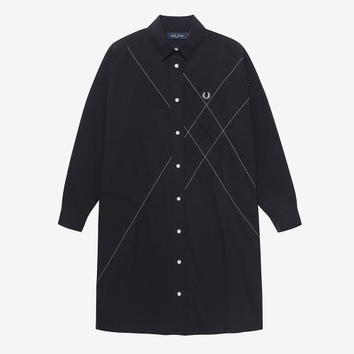 아가일 셔츠 드레스 (J07)