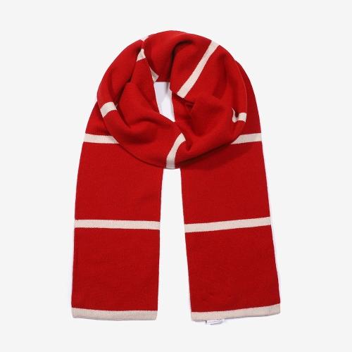 스트라이프 스카프 (RED)